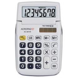 Calculatrice de poche ACROPAQ AC-901 Blanc