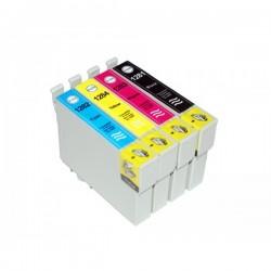 Pour EPSON T1281-T1284 (T01285) (5 Sets Complets de 4 cartouches)