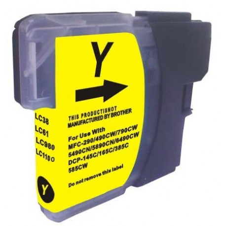 BROTHER LC 1100 / LC980 XL JAUNE compatible