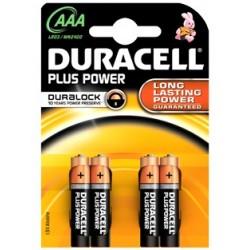 DURACELL 2400PLUS LR03 2.4/4 AAA