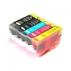 Pack CANON PGI 5 / CLI 8 (1 set complet de 5 cartouches) compatible