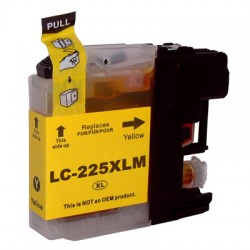 CARTOUCHE COMPATBLE BROTHER LC225XL JAUNE