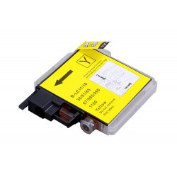 Pour BROTHER LC 980 / LC 1100  jaune COMPATIBLE
