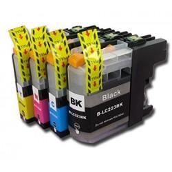 Pack Brother LC 223 (Set complet de 4 cartouches) + 1 BK gratuite compatible