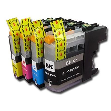 Pack Broher LC223 compatible + 1 BK gratuite