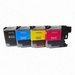 Pack brother lc125 / 127 compatible + 1 noir gratuite