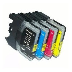 Pour BROTHER  LC 985  (set complet de 4 cartouches)