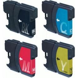Pour BROTHER LC 1100 (set de 4 cartouches )