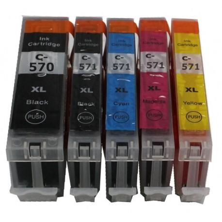 Pour Canon PGI 570XL / CLI 571XL (3 sets de 5 cartouches)