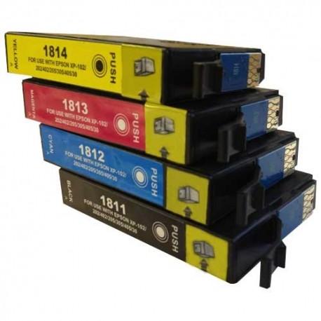 Pack T18XL compatible epson + 1 BK gratuite